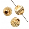 Gold Filled 14kt Bead Round Corrugated 4mm